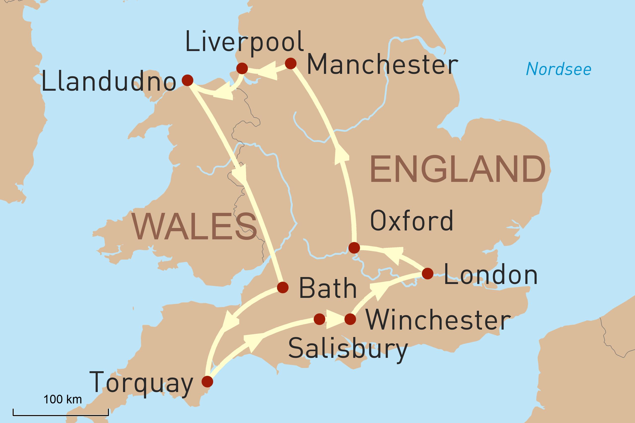 England und Wales mit dem MIetwagen entdecken