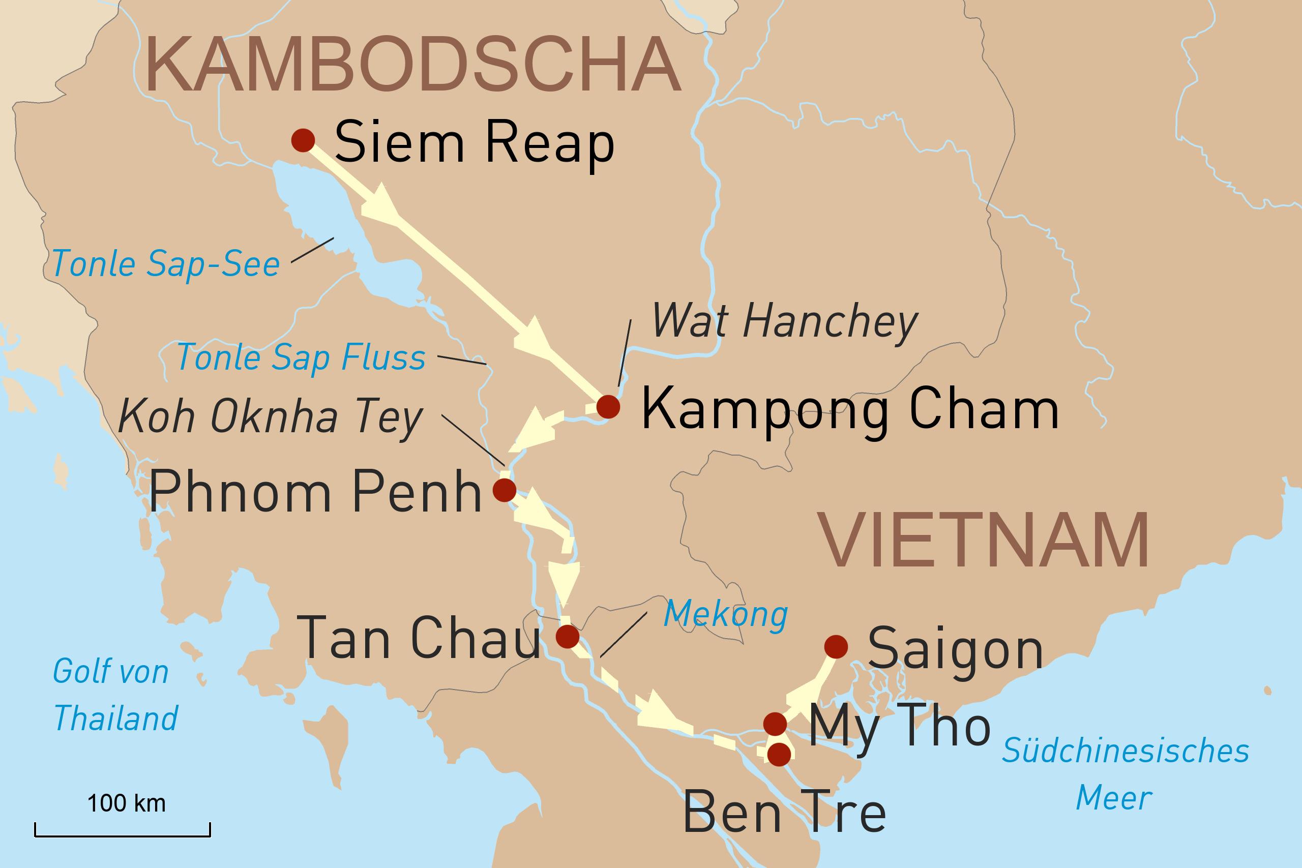 Entdeckungen am südlichen Mekong