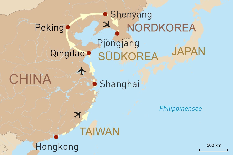 Entlang Chinas Ostküste bis nach Pjöngjang