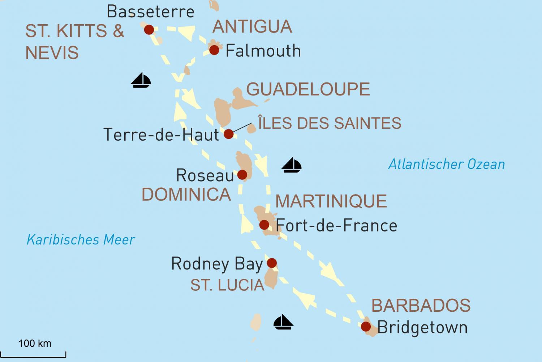 Entspannen auf Barbados und Segelkreuzfahrt mit Star Clippers