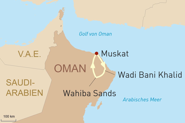 Entspannen in Oman - Traumstrand und Wüstenerlebnis