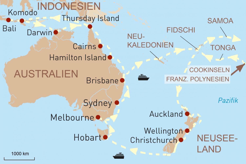 Kleine Weltreise ab bis Bali