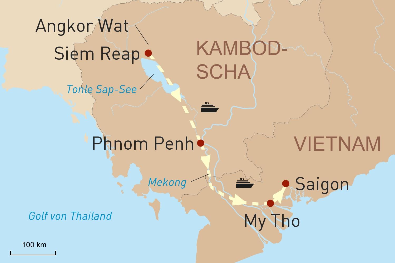 Exklusivreise mit Flusskreuzfahrt auf der Aqua Mekong: Angkor Wat und der südliche Mekong