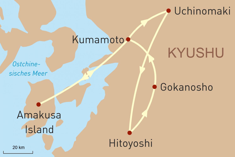 Japan Reise - Kyushu  Heimat der Samurai