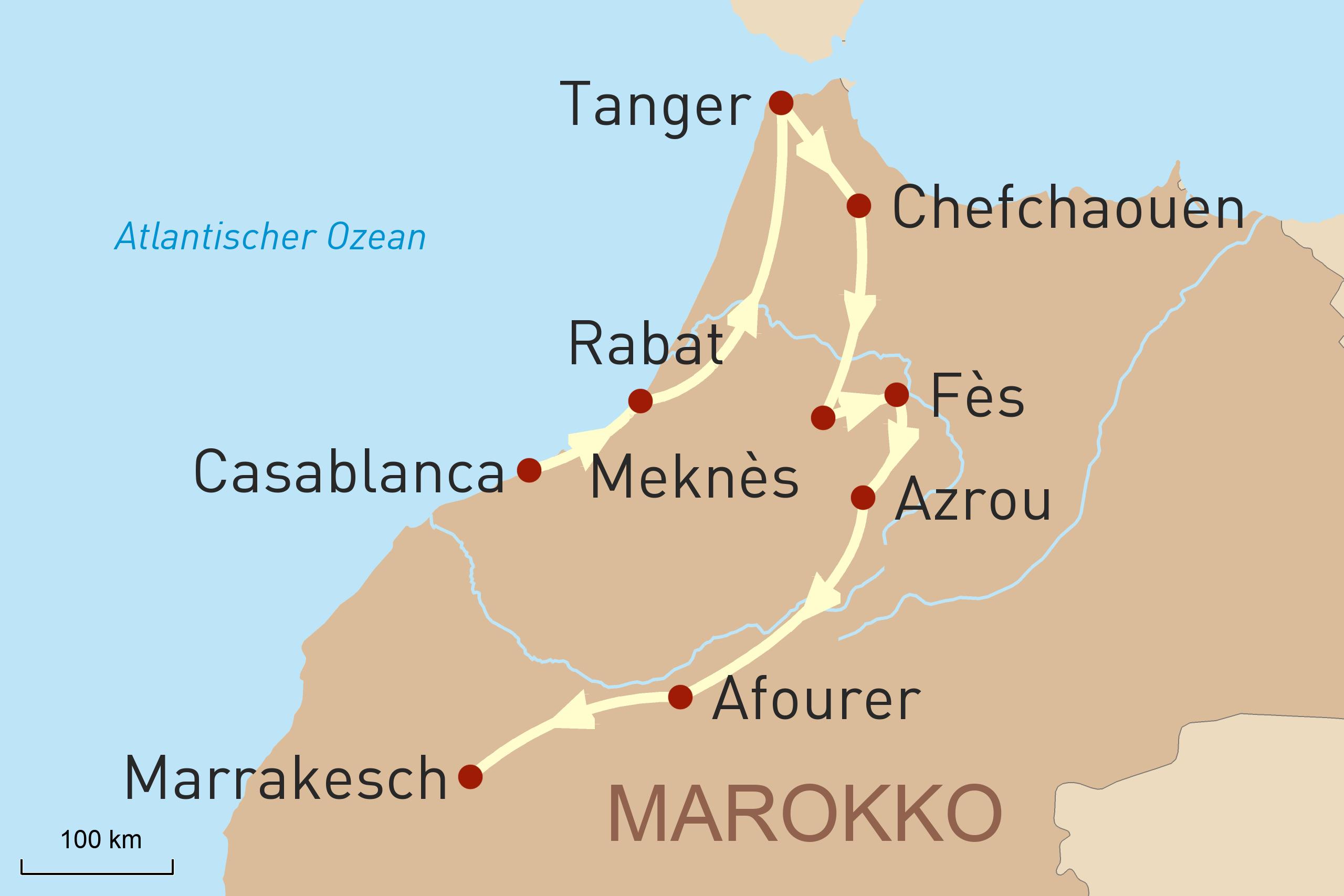 Faszination Marokko Karte
