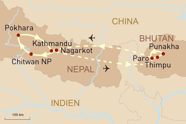 Nepal & Bhutan Reise: Faszination Himalaya