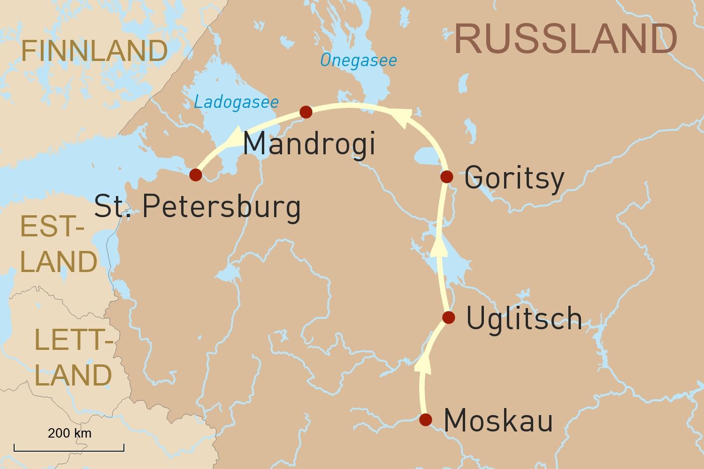 Flusskreuzfahrt von Moskau nach St. Petersburg: Wolga & russische Seen