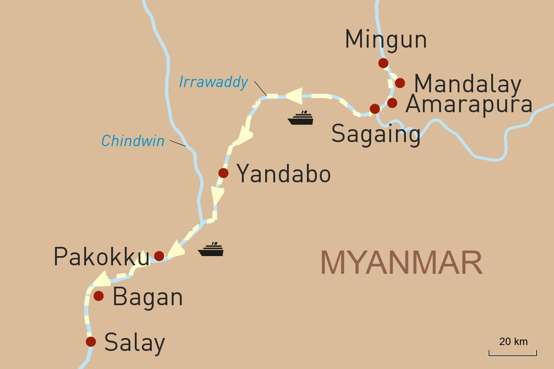 Flusskreuzfahrt in Myanmar auf der RV Pandaw: Von Mandalay nach Bagan