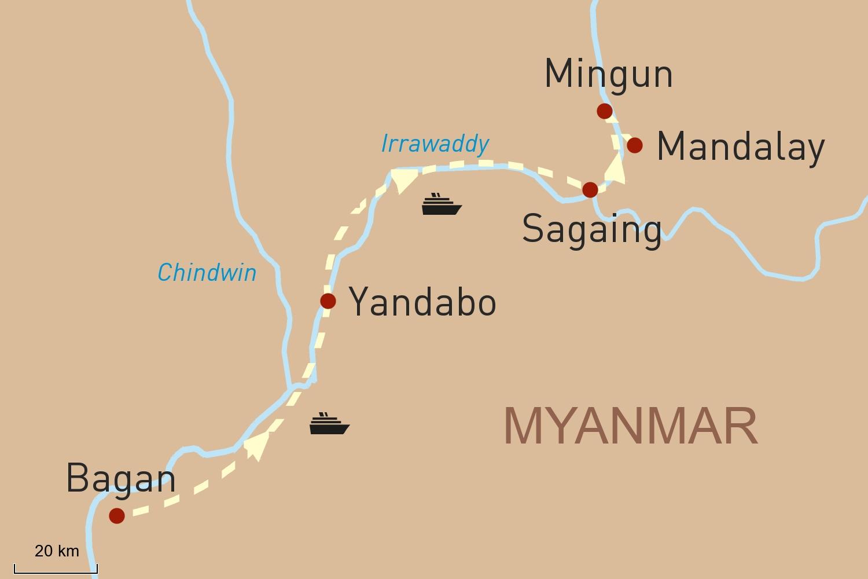 Flusskreuzfahrt in Myanmar auf der RV Paukan: Von Mandalay nach Bagan (3 Tage)