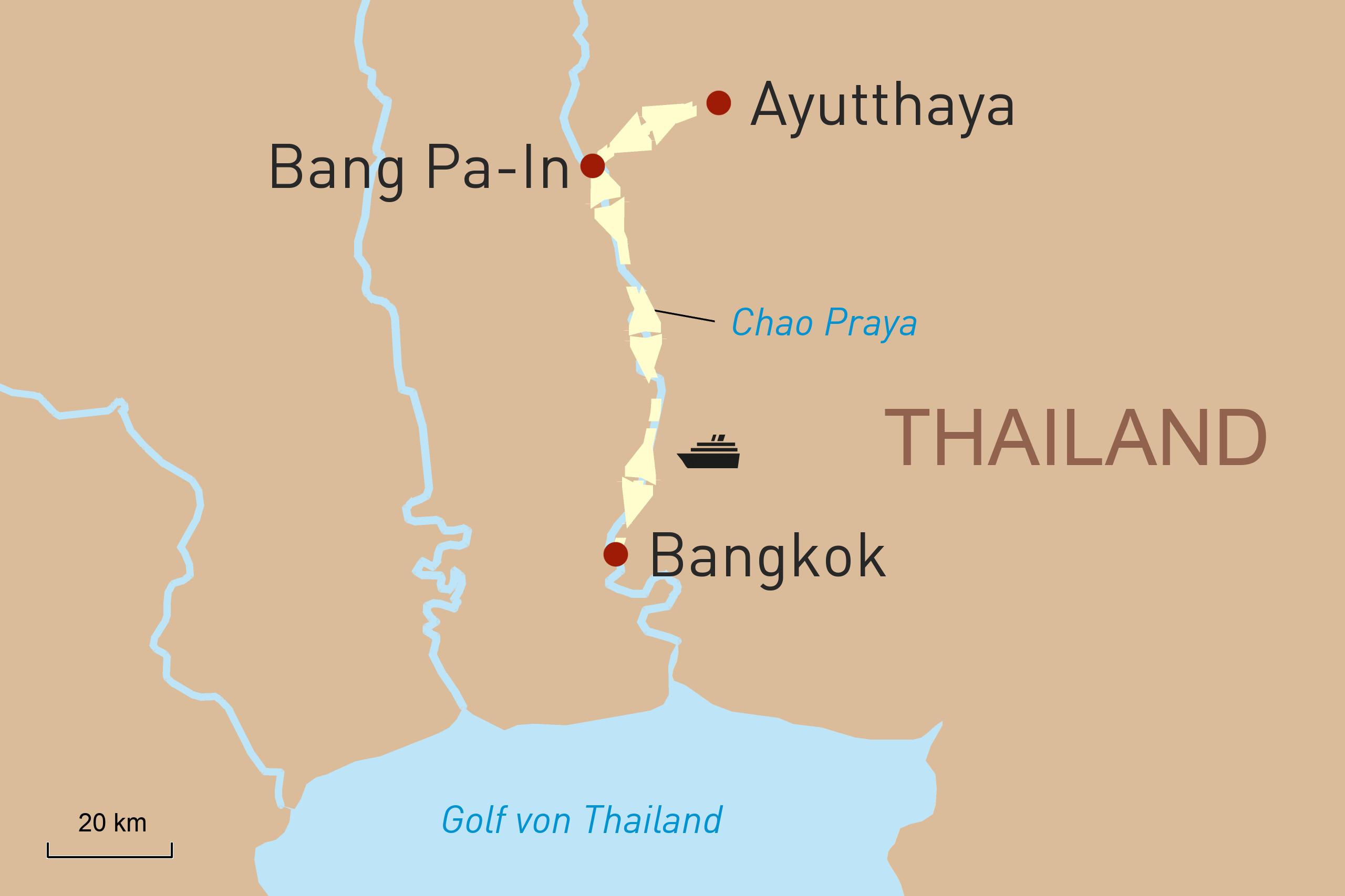 Mit der Loy River Song unterwegs auf dem Chao Phraya