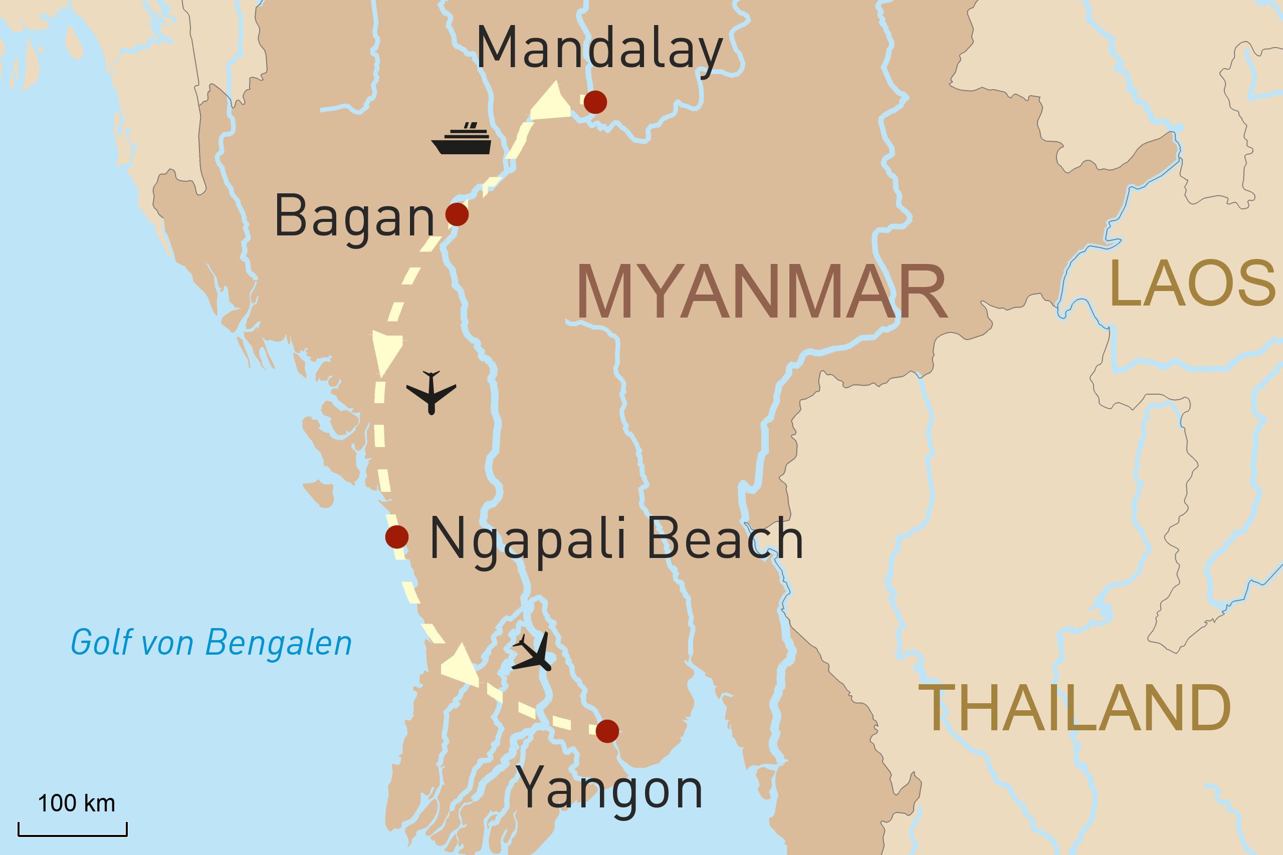 Myanmar Karte
