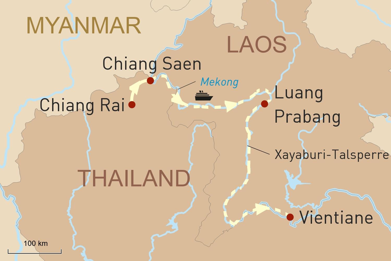 Mekong Flusskreuzfahrt in Laos: Flusskreuzfahrt Orchidee