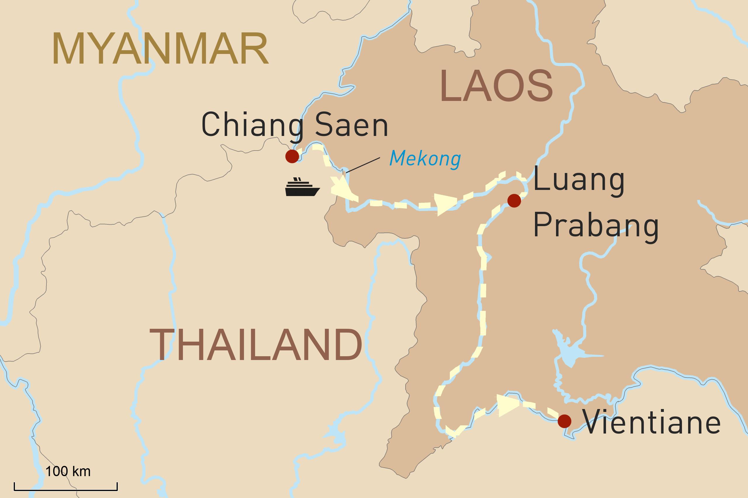 Flusskreuzfahrt Orchidee: Auf dem Mekong durch Laos