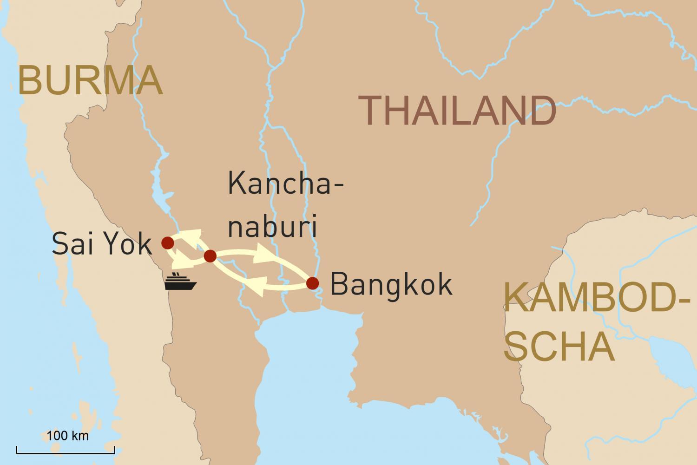 Thailand vom Wasser aus: Flussreise auf dem River Kwai