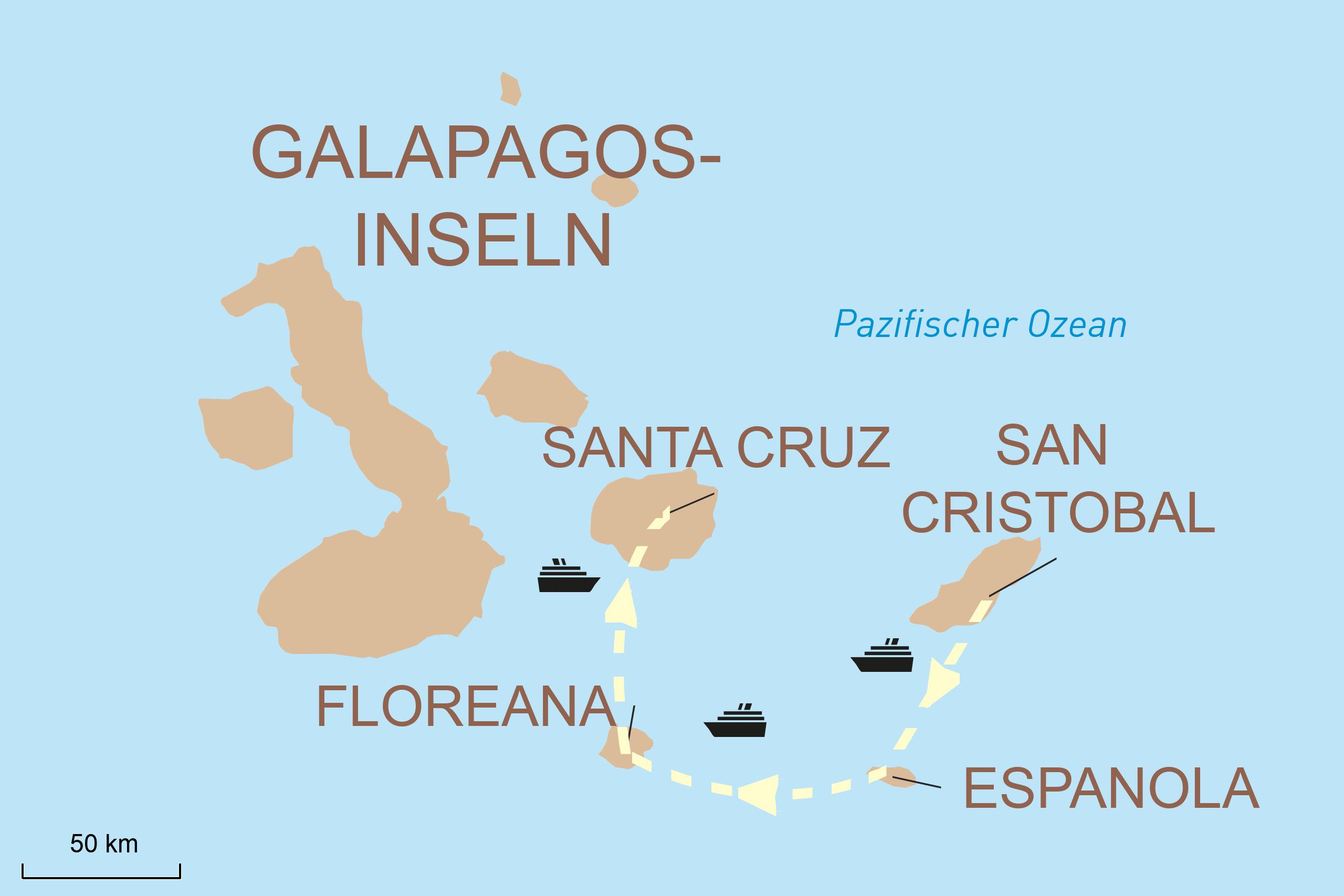 Kreuzfahrt durch die Galápagos-Inseln mit der Seaman Journey