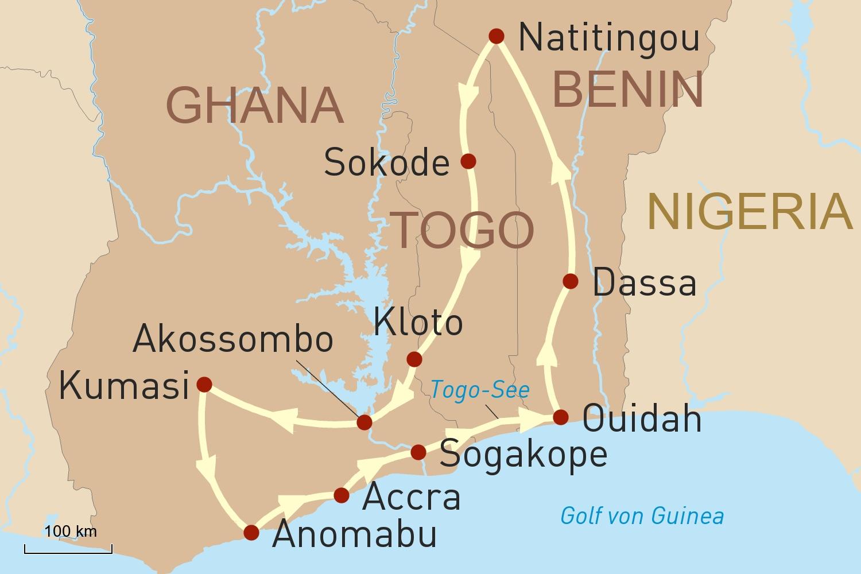 Reise nach Ghana, Togo & Benin - Vergangene Königreiche & mächtige Geister