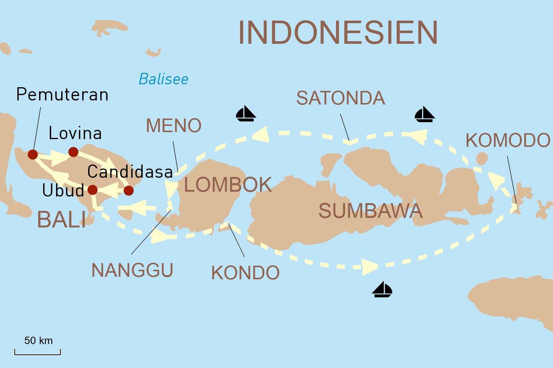 Götterinsel Bali & Kreuzfahrt mit Star Clippers: Die zauberhafte Inselwelt Indonesiens