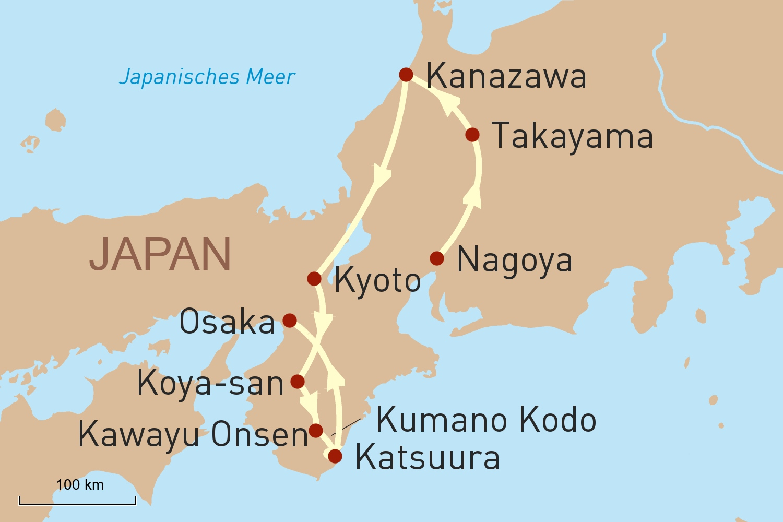 Japan Reise: Goldener Herbst in Japan