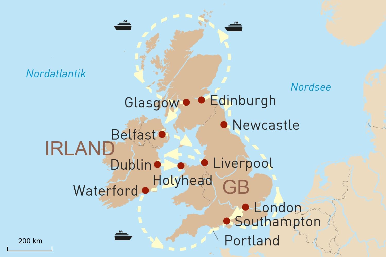 Großbritannien Reise mit Kreuzfahrt von Oceania Cruises: Very British - zu Land und zu Wasser
