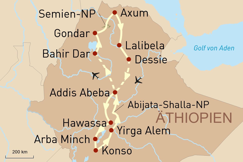 Äthiopien: Historische Kulturschätze und unbekannte Naturvölker