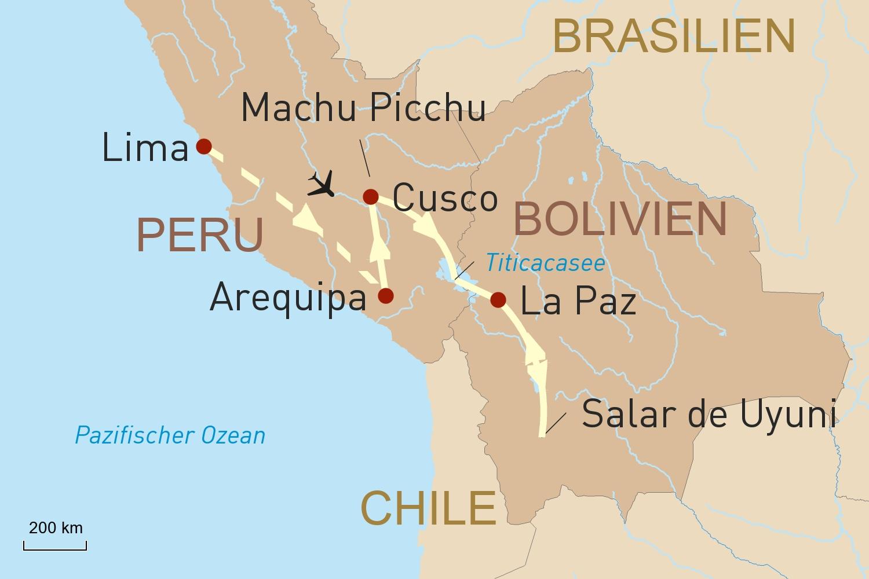 Höhenrausch in den Anden: Rundreise durch Peru und Bolivien