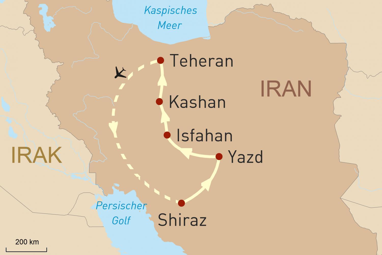 Reise zu den Höhepunkten Irans