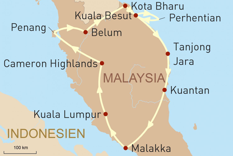 Reise zu den Höhepunkten Malaysias