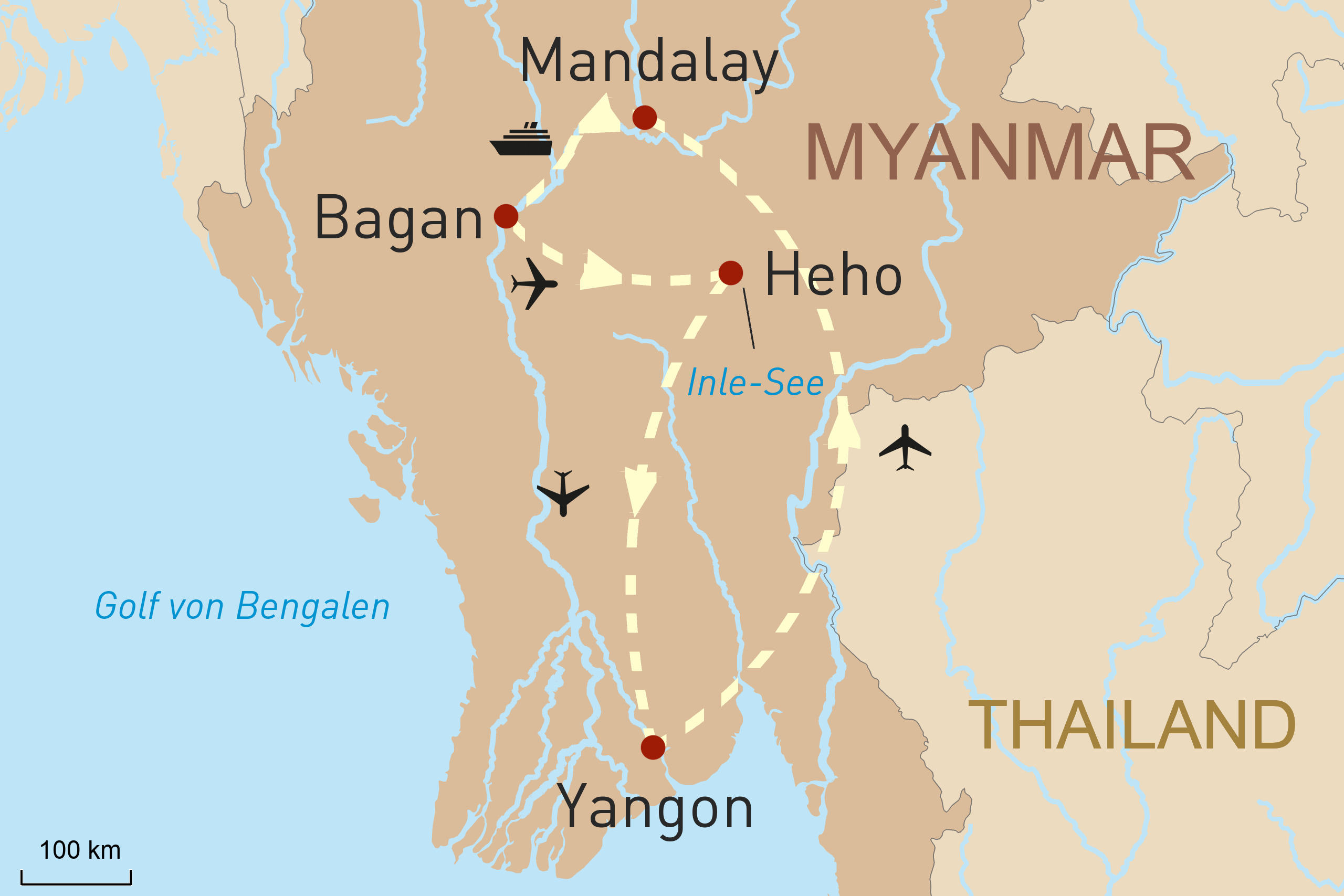 Höhepunkte Myanmars und Luxuskreuzfahrt auf dem Irrawaddy