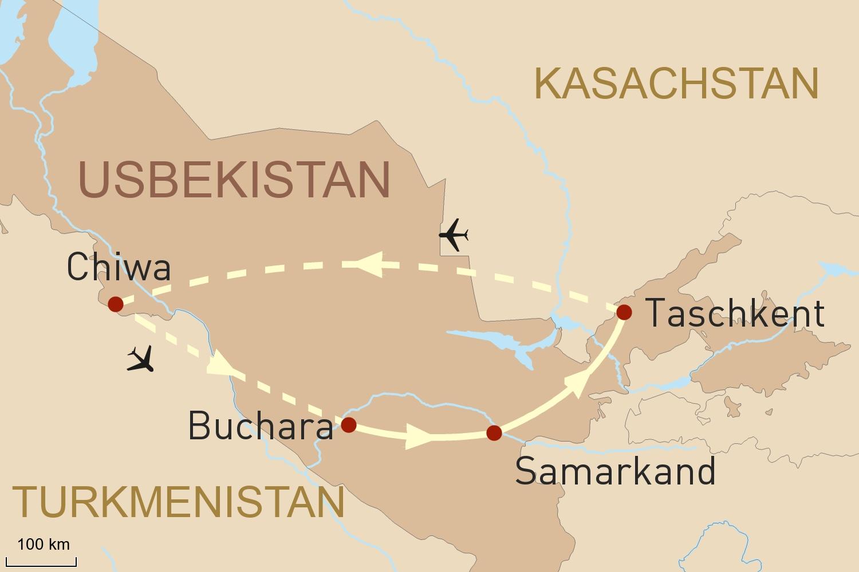Reise Seidenstraße: Höhepunkte Usbekistans