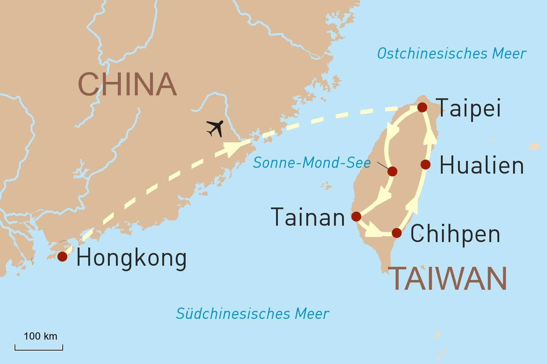 Stopover Hongkong und facettenreiches Taiwan
