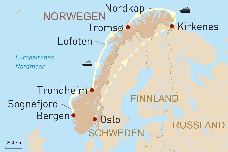 Hurtigruten: Auf den Spuren des Nordlichts