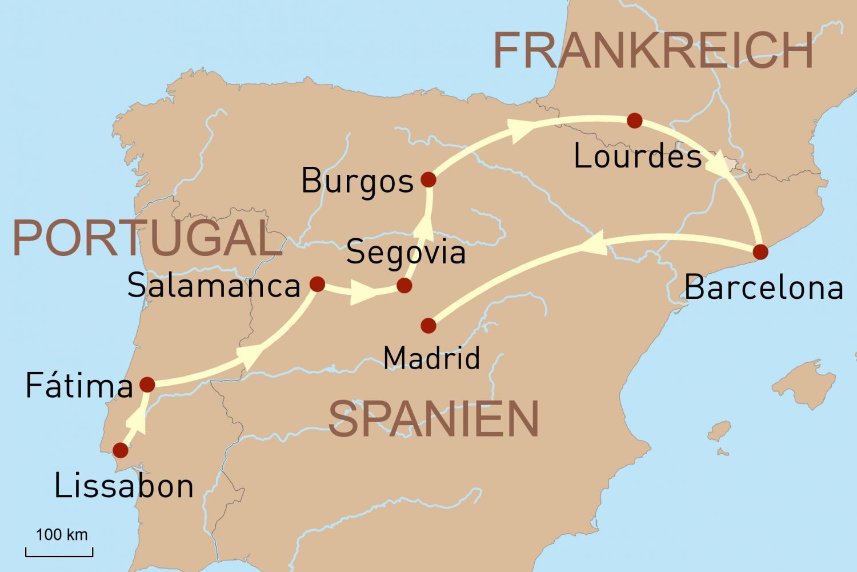 Portugal, Spanien & Frankreich privat geführt: Kathedralen, Klöster und Wallfahrtsorte