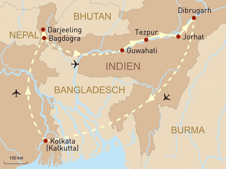 Indien: Assam & Darjeeling - eine Reise in das Land des Tees