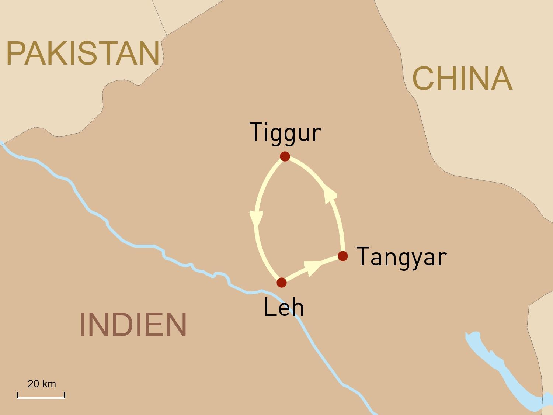 Reiseroute: Ladakh - Reise in das Land der Chörten und Klöster