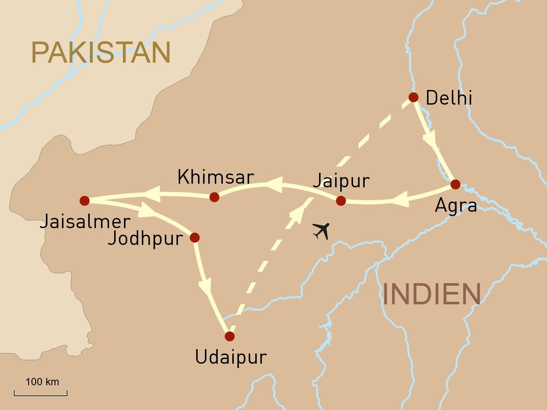 Indien Reise: Rajasthan exklusiv
