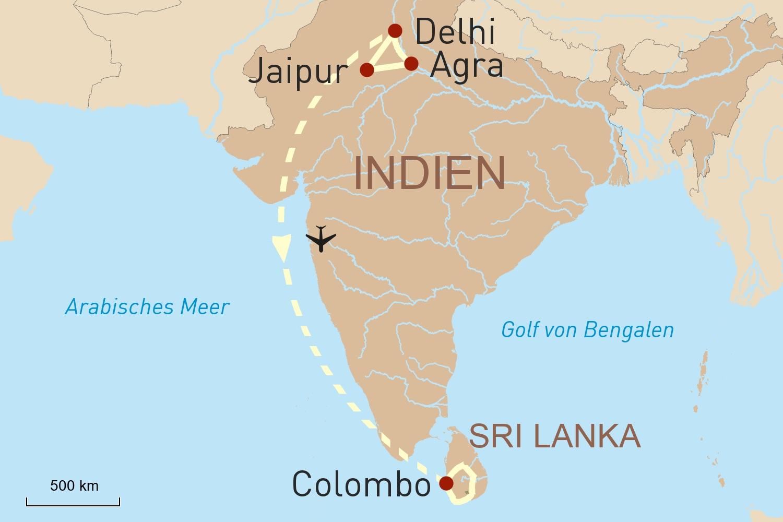 Sri Lanka Karte Zum Drucken.Indien Und Sri Lanka Paläste Tempel Und Artenreiche Natur
