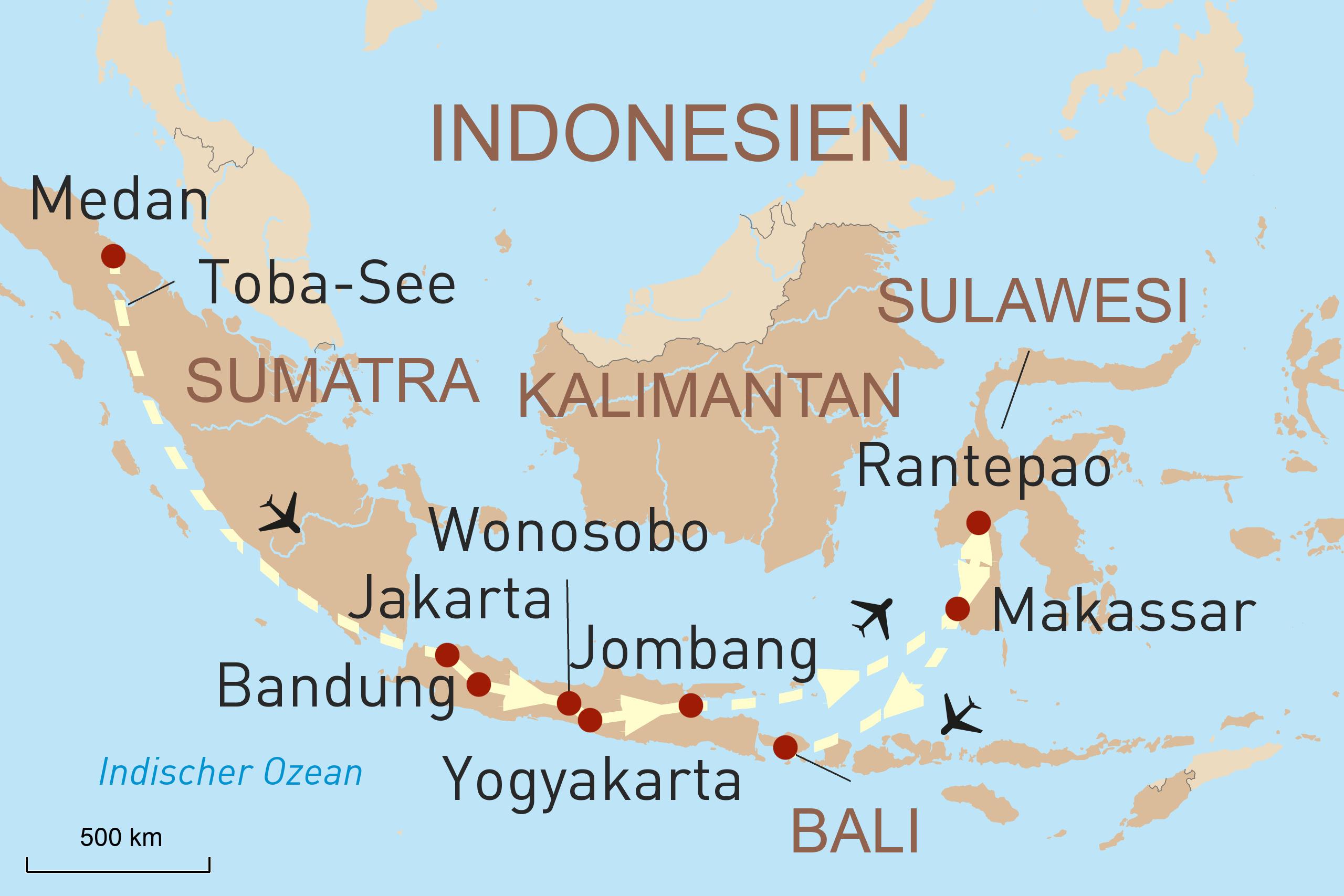 Indonesien Reise Intensiv - Sumatra, Java, Bali und Sulawesi
