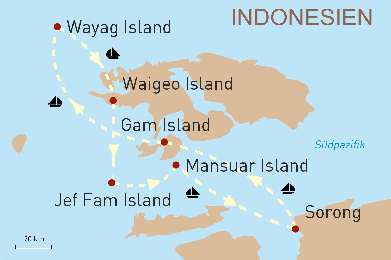 Indonesien Kreuzfahrt: Mit der Alila Purnama zu den Inseln von Raja Ampat