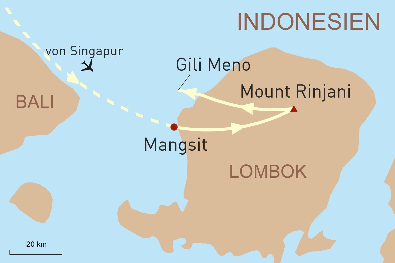 Indonesien Reise: Luxustrekking auf Lombok & Entspannung auf Gili Meno