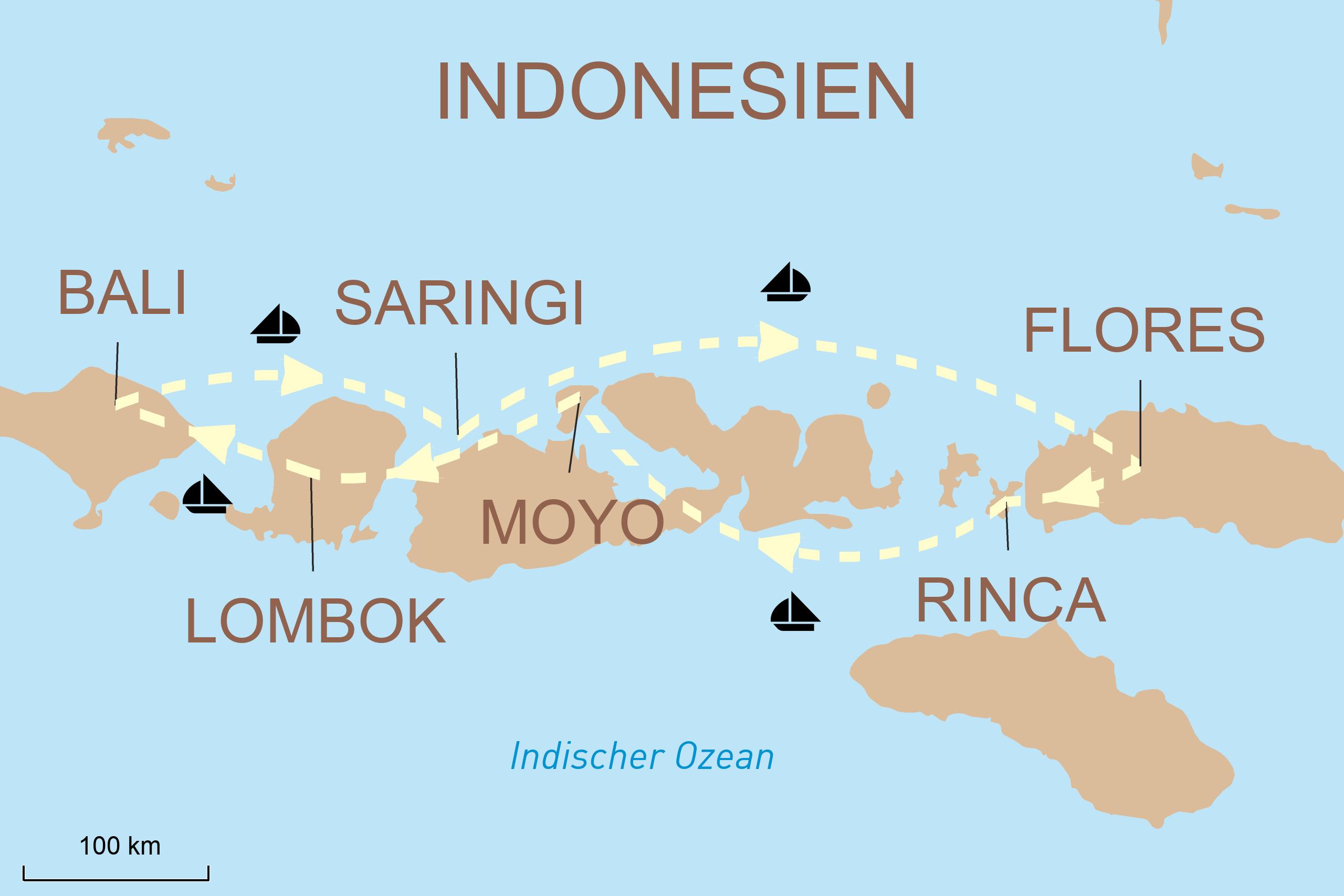 Segelkreuzfahrt Indonesien mit der M/S Panorama II
