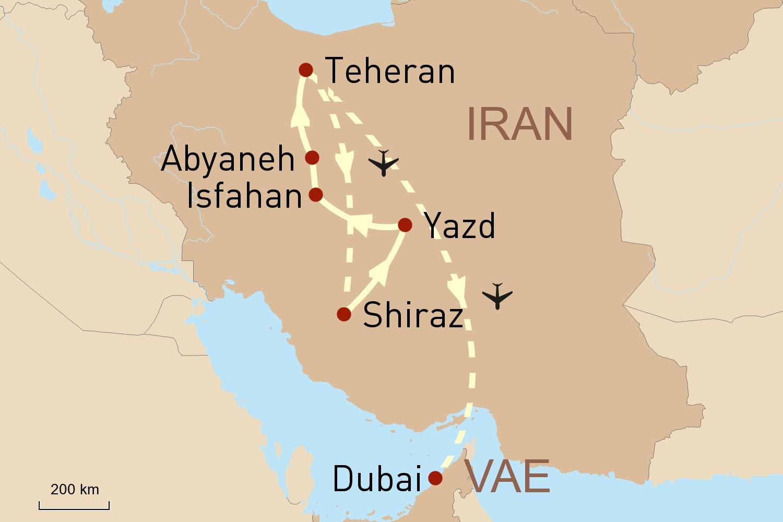 Iran stilvoll erleben und Baden in Dubai