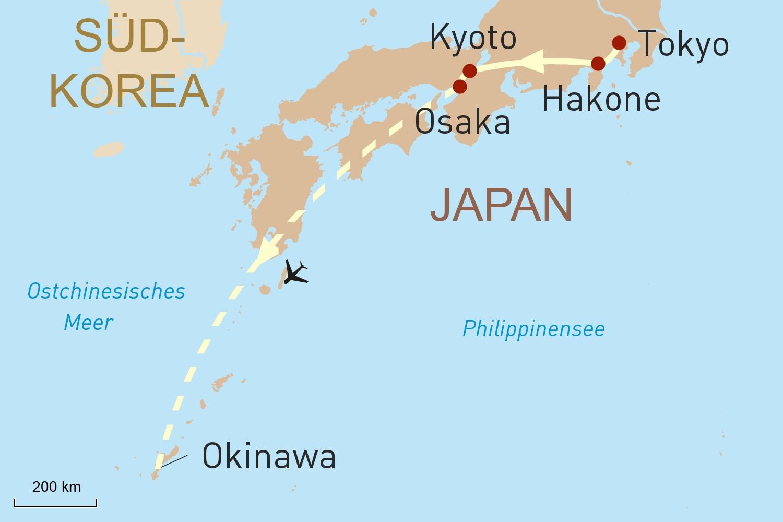 Japan auf den ersten Blick & Baden auf Okinawa