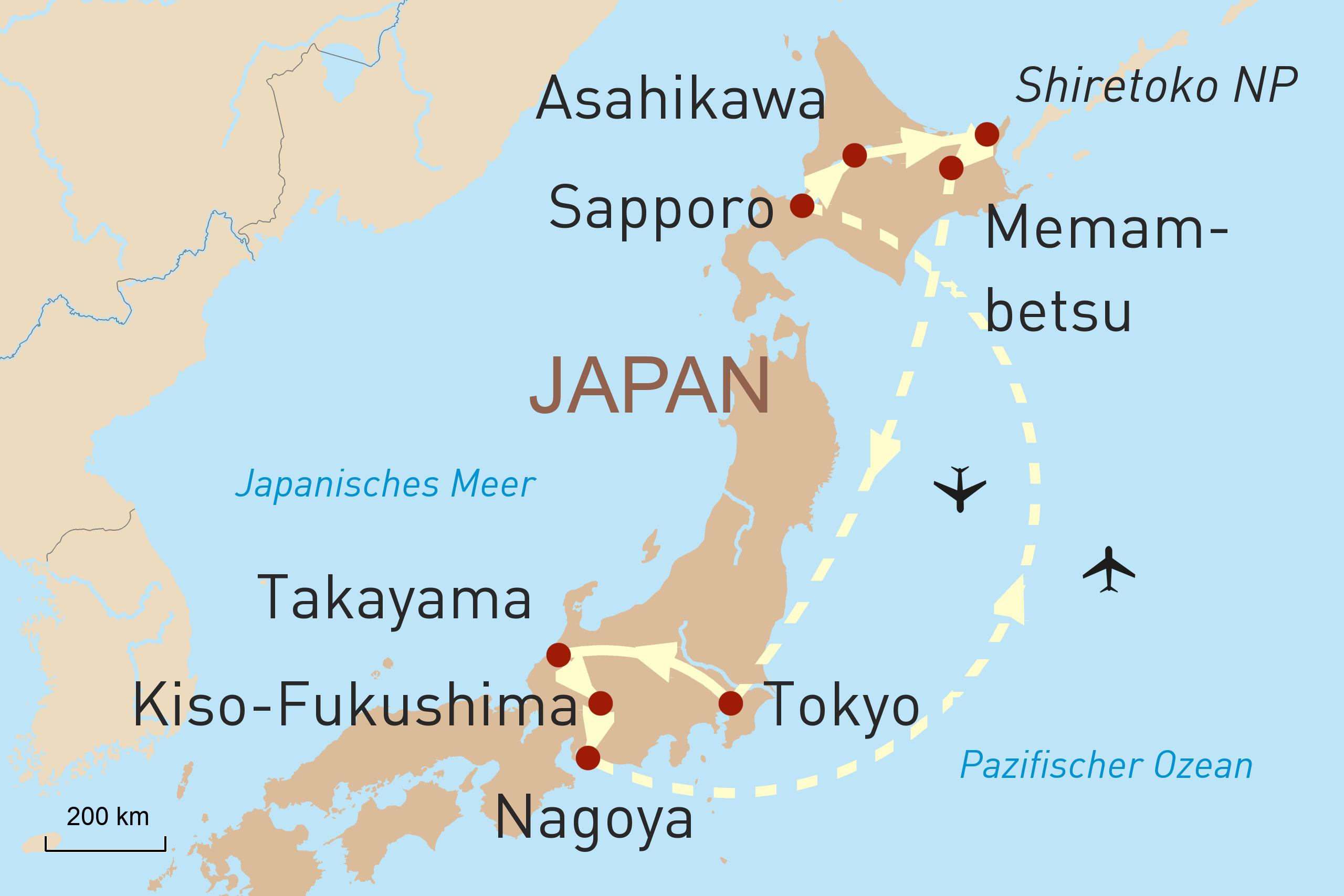Mietwagenreise Japan