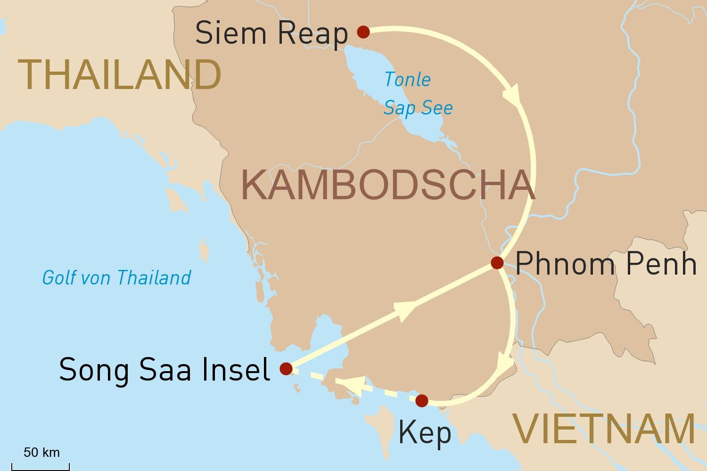 Kambodscha luxuriös erleben