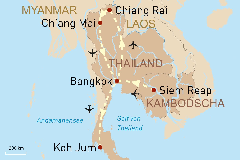 Kambodscha Thailand Reise: Eindrucksvolle Tempel & sanfte Dickhäuter