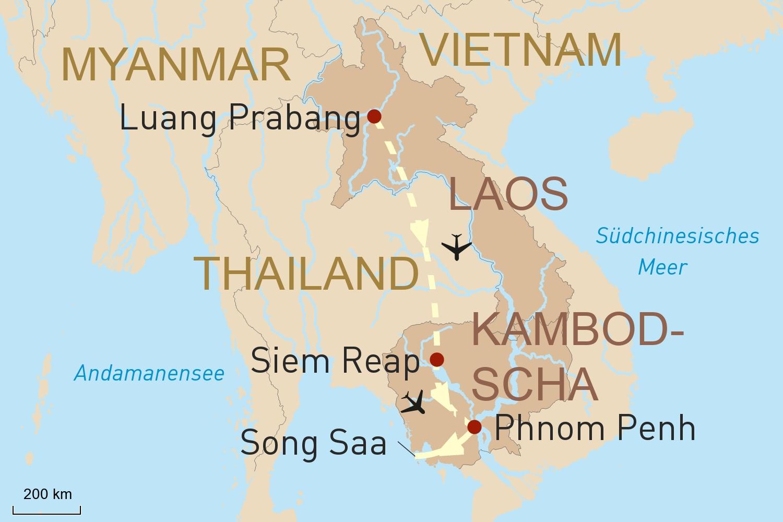 Laos und Kambodscha luxuriös erleben