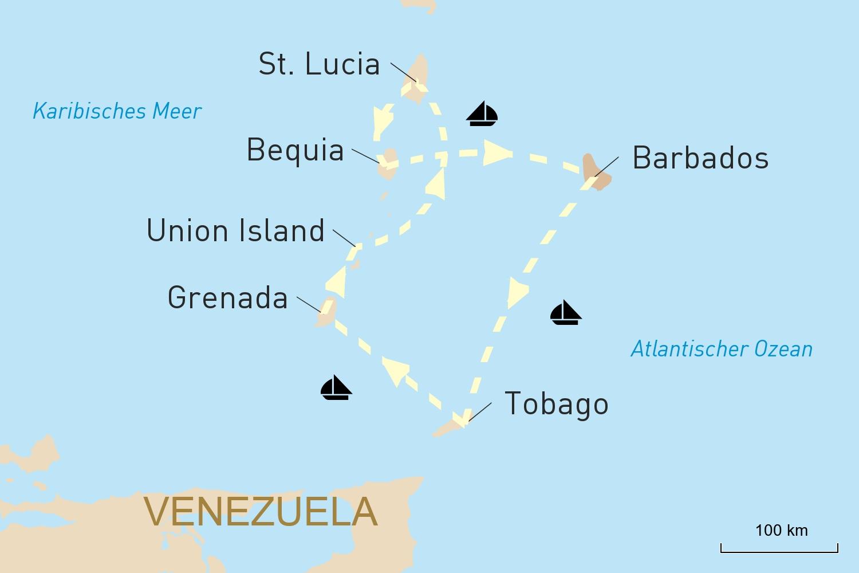 Karibik Kreuzfahrt: Barbados und die Grenadinen an Bord der Sea Cloud erleben