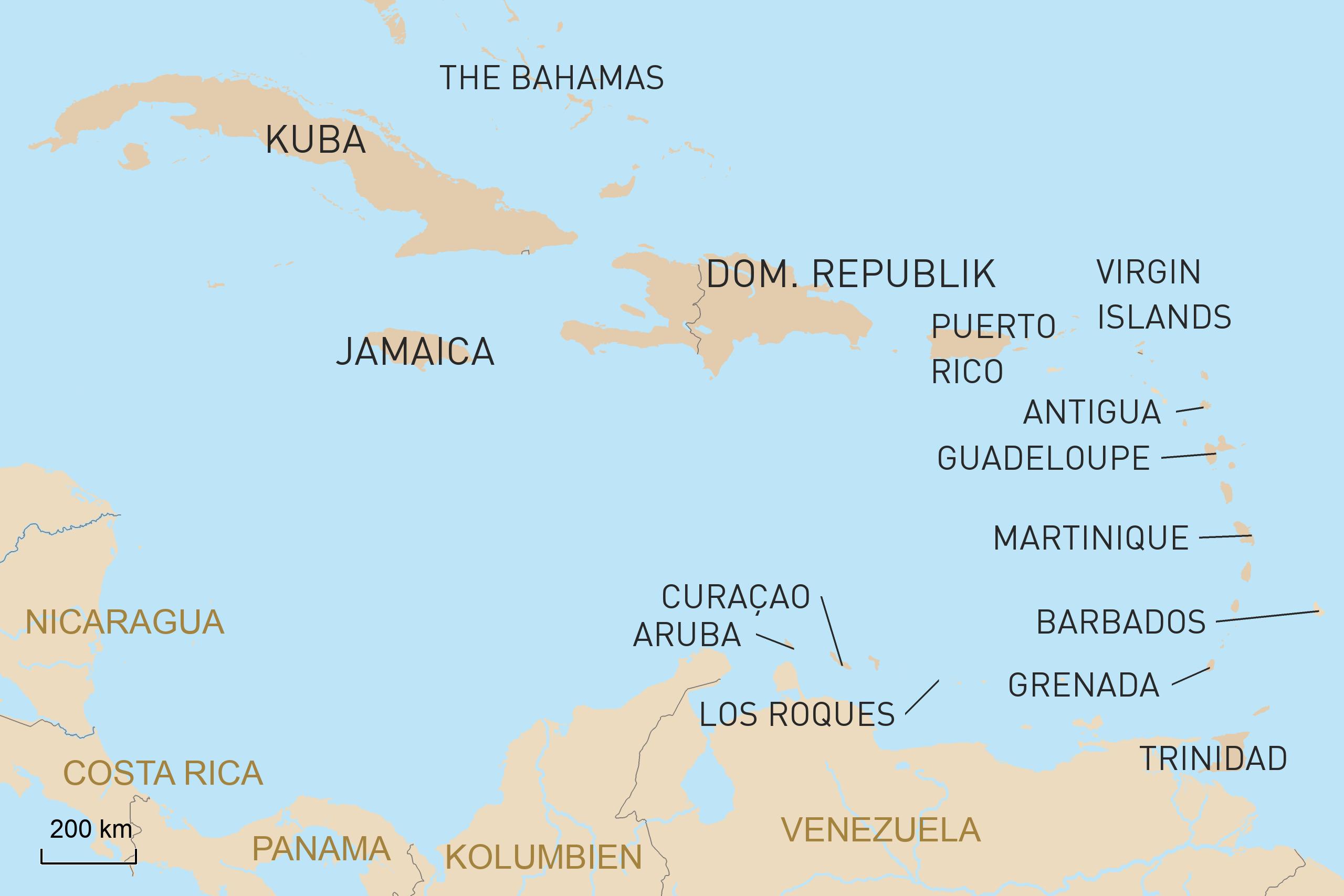 Aruba Karte Karibik.Karibik Reisen Individuell Geoplan Privatreisen