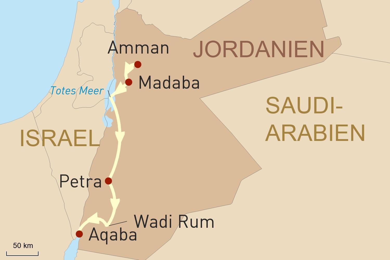 Jordanien Reise: Klassisches Jordanien