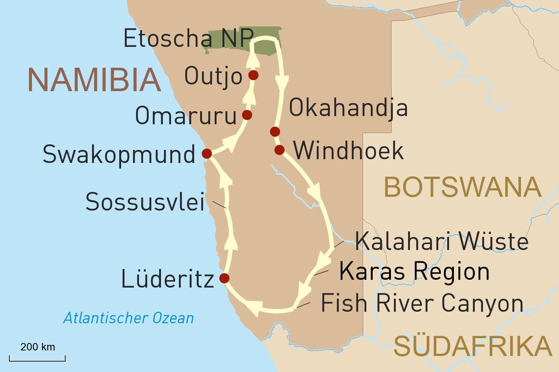 Kleingruppenreise: Traumwelten Namibias